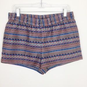 J. Crew Elastic waist band Aztec Shorts w/ Pockets